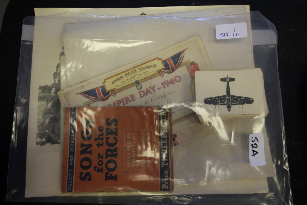 Lot 52A - Military related photographs, ephemera