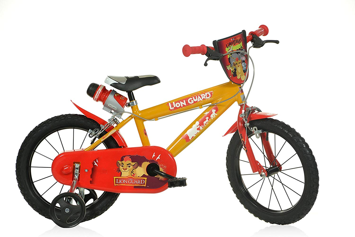 Lot 168 - 1 x The Lion Guard 16inch Balance Bike Red - DINO Bikes | 8006817900948 | RRP £ 99.99 DAMAGED PACKAG