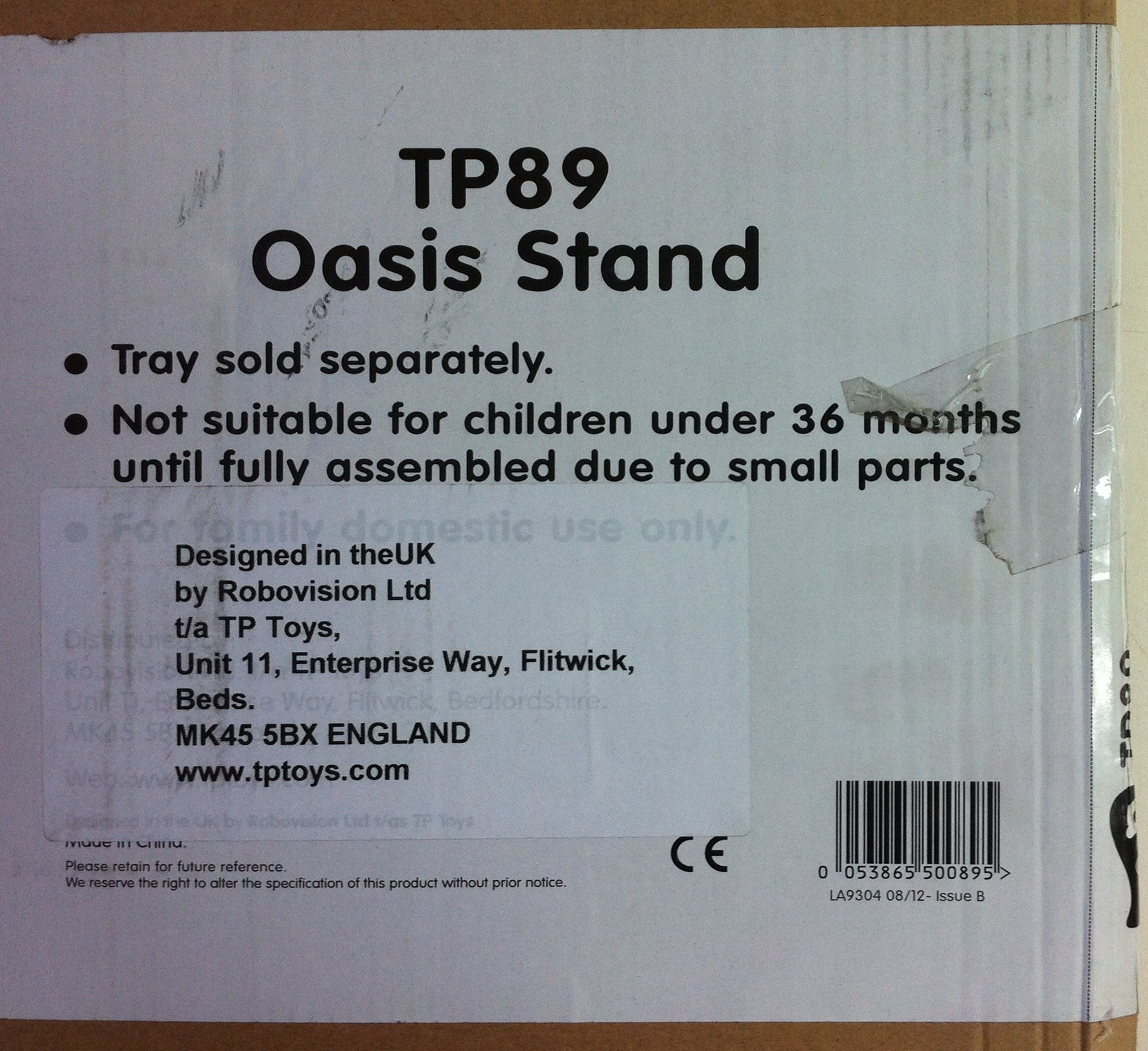 Lot 172a - 1 x Educational - Sand and Water Tray - Red Oasis (TP560)   53865505609 with Oasis stand TP 89   05
