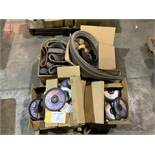 Assorted grinding wheels and belts