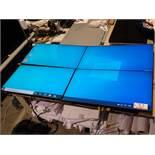 "UNITS PLANAR LX46-L CLARITY MATRIX 46"" LCD VIDEO WALL SCREENS W/ POWER SUPPLY CABLES & CART"