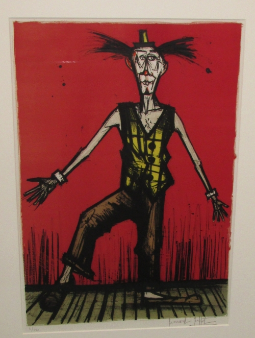 Lot 1 - After Bernard Buffet (1928-1999) - 'Bibert - from Mon Cirque' lithograph, signed edition of 120,