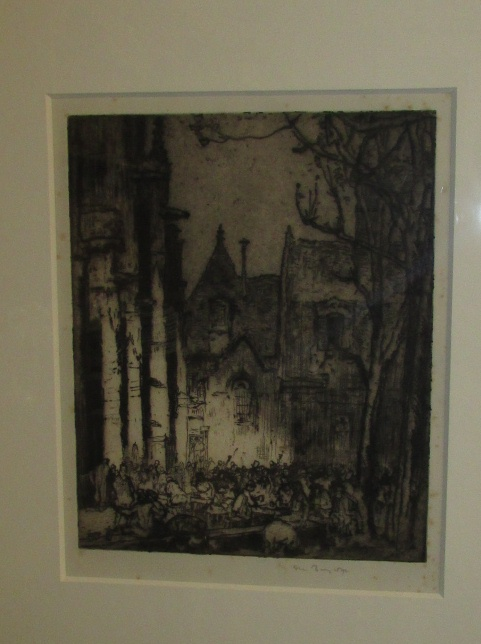 Lot 21 - Sir Frank Brangwyn (1867-1956) - 'Notre Dame la Riche, Tours', etching, signed in pencil (30.5cm x