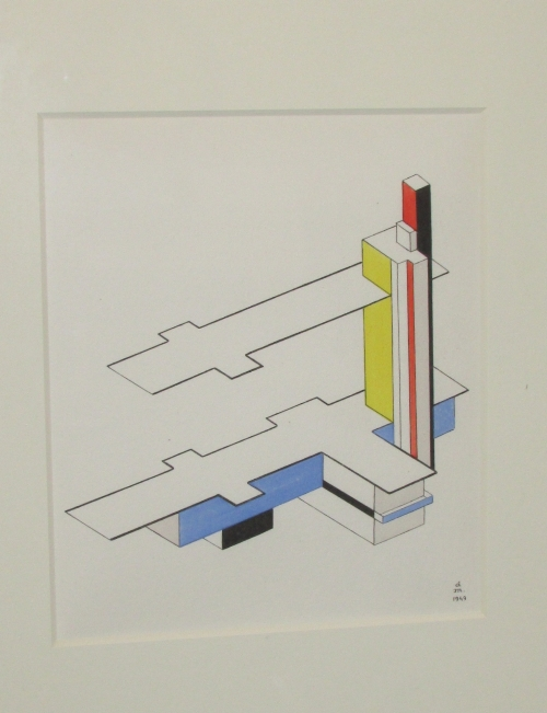 Lot 6 - After Felix Del Marle (1889-1952) - 'Untitled' abstract, (22cm x 19cm) F&G, Goldmark Gallery of