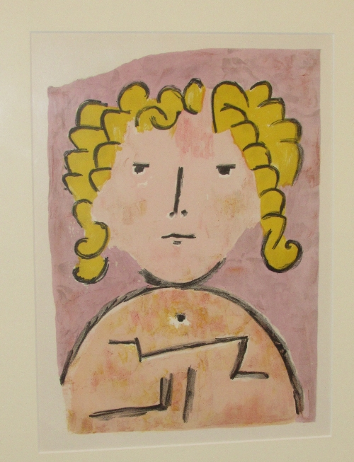 Lot 9 - After Paul Klee (1879-1940) - 'Tete d'Enfant' (34.5cm x 25.5cm) Goldmark Gallery of Uppingham