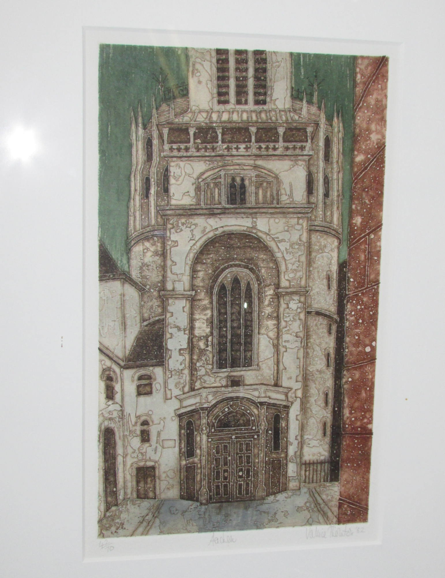 Lot 15 - Valerie Thornton (1931-1991) - 'Aachen', aquatint etching signed edition of 70, signed and