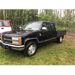 1993 Chevy Ext/Cab 4x4 Deck Truck 6.2L Diesel, A/T, VIN 2GCEK19COP1125758 393874km