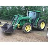 2001 John Deere 6605 MFWD Tractor sn 310131 6190hrs, 6.8L 95hp Eng, Like New Rubber 18.4-38rr, 12.4-