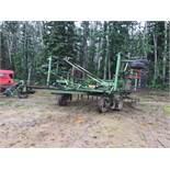 John Deere 655 28ft Deep Tillage Cultivator 12in Spacing, 16in Shovels, Mounted Morris Harrows, Rear