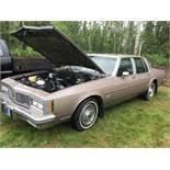 1984 Oldsmobile Delta 88 4-Door Car VIN 1G3AY69Y6E9743127 48,225km Showing.