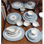 "A Royal Doulton bone china ""Rose Elegans"" pattern thirty seven piece part dinner & tea service; &"