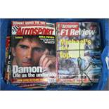 A large collection of magazines on Formula One racing, circa 1980's onwards.
