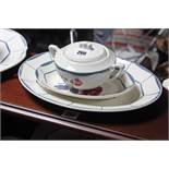 """A French china """"Malmaison"""" pattern thirty-six piece part dinner & tea service; & an Alfred Meakin"""