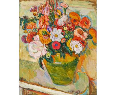 ABRAHAM MANIEVICH (RUSSIAN 1883-1942)Bouquet of Flowers, circa 1930 oil on canvas 61 x 50.8 cm (24 x 20 in.) signed lower rig