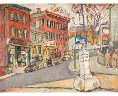 ABRAHAM MANIEVICH (RUSSIAN 1883-1942)Pittsburgh, circa 1925 oil on board 50.5 x 65.4 cm (20 x 25 3/4 in.) signed lower left L