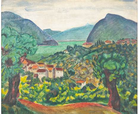 BEN BENN (RUSSIAN-AMERICAN 1884-1983)Comano, Ticino, Switzerland oil on canvas 46 x 55 cm (18 1/8 x 21 5/8 in.) signed lower
