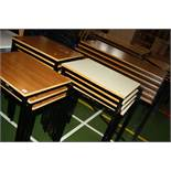 SEVENTEEN STACKING TABLE, including seven with tops 60x46cm, six with similar tops 119x59cm and four