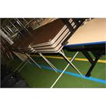 TWENTY NINE FOLDING 'EXAM' TABLES AND TWO OTHER TABLES, the folding tables are 86x86x71cm high