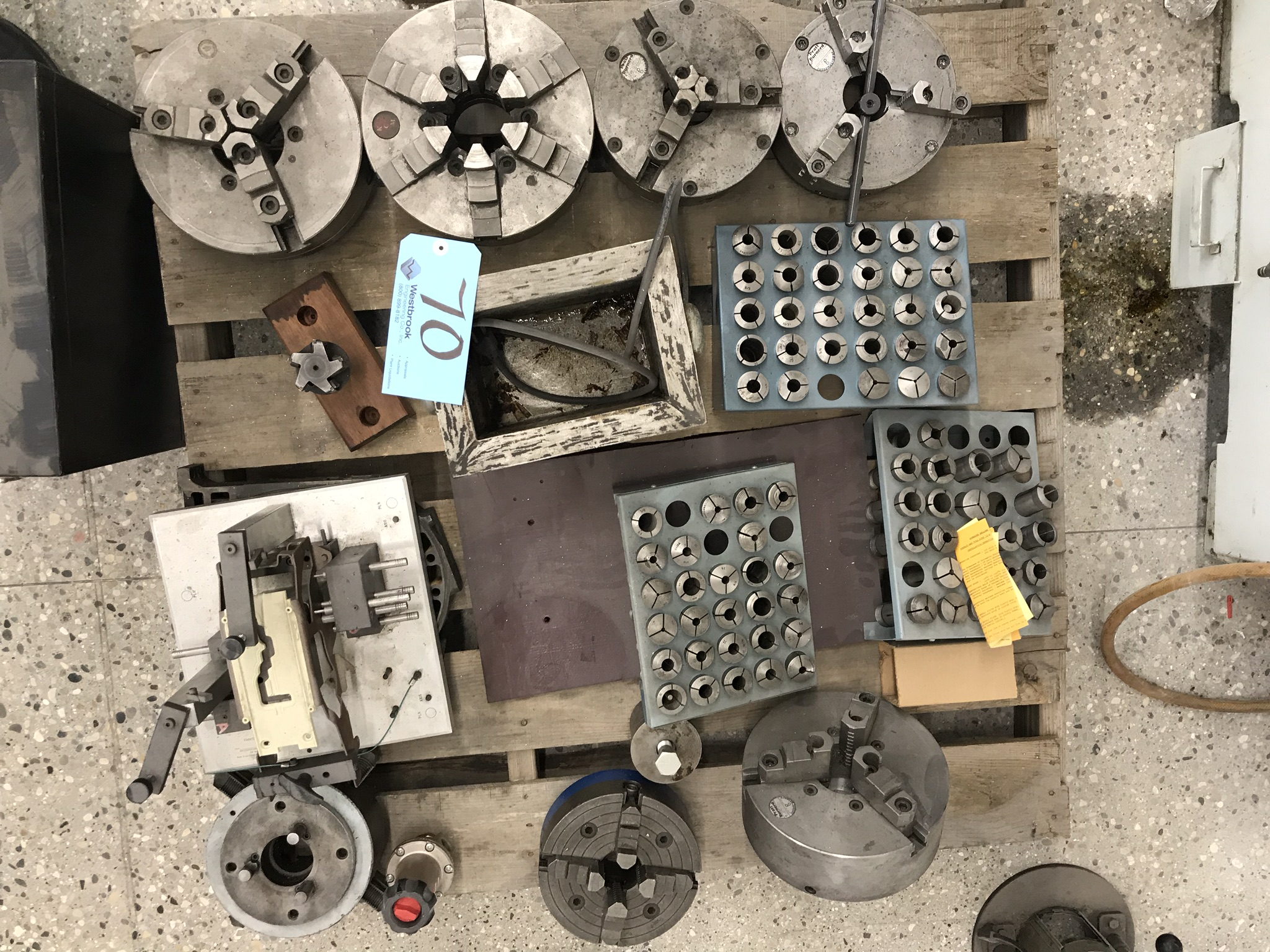Pallet of Lathe Chucks, Collets and Accessories - Image 2 of 2