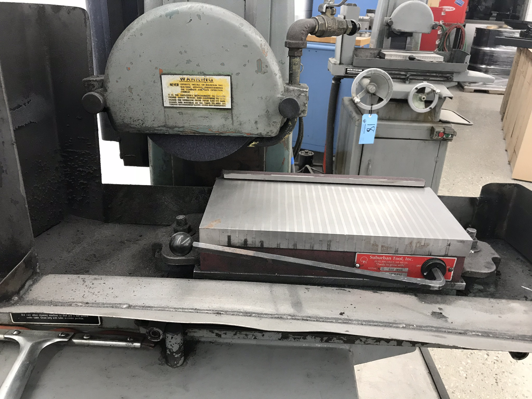 """Harig Super 612 6"""" x 12"""" Surface Grinder with Scales for X, Y DRO. 6"""" x 12"""" Permanent Magnetic Chuck - Image 2 of 4"""