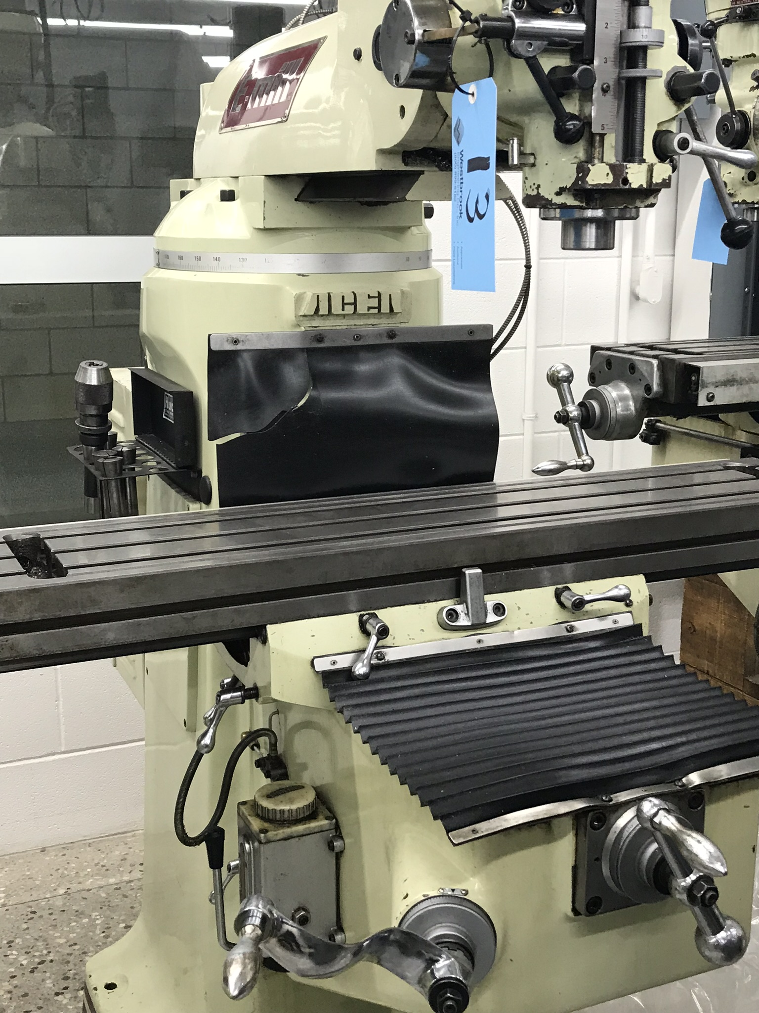 """Acer Vertical Milling Machine Model EVS-3VS, 9"""" x 42"""" Table, Newall DRO, Collets, 60-4500 RPM - Image 3 of 5"""
