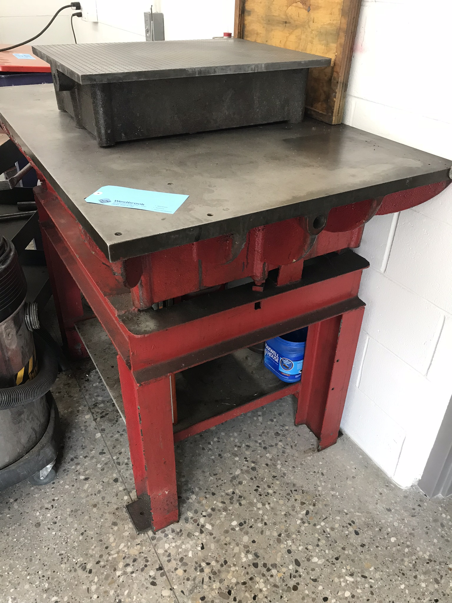 """36"""" x 48"""" Cast Iron Surface Plate with Stand. Does not include plate on top."""