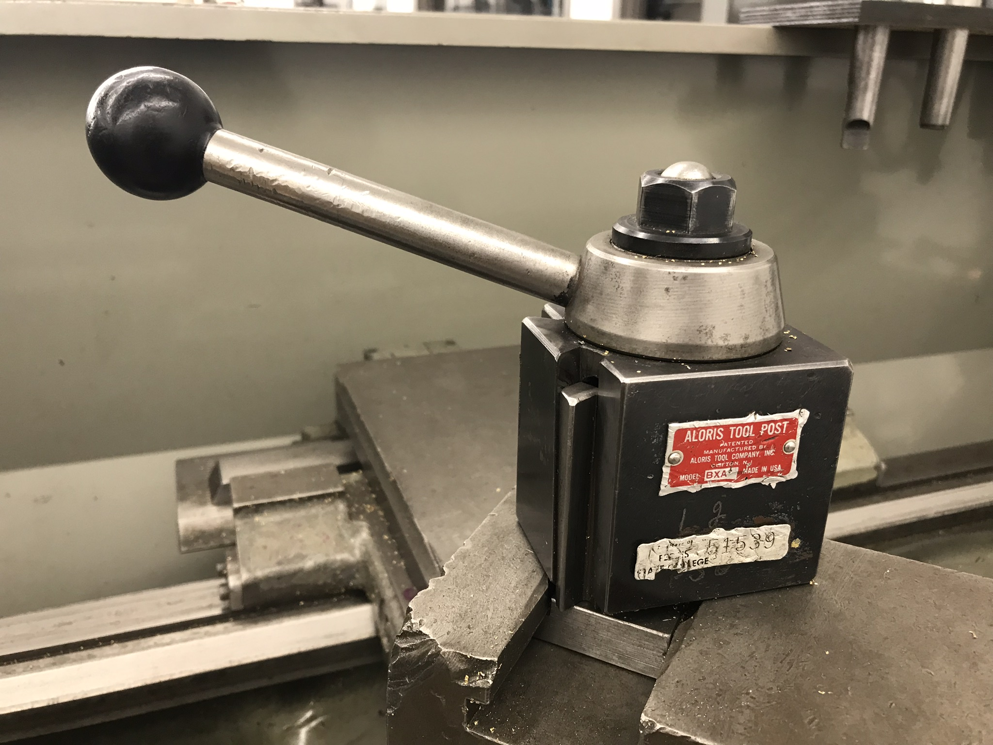 """Clausing Colchester 15"""" x 50"""" Toolroom Lathe 10"""" 3 jaw, 10"""" 4 jaw, Aloris tool post, related Tooling - Image 4 of 7"""