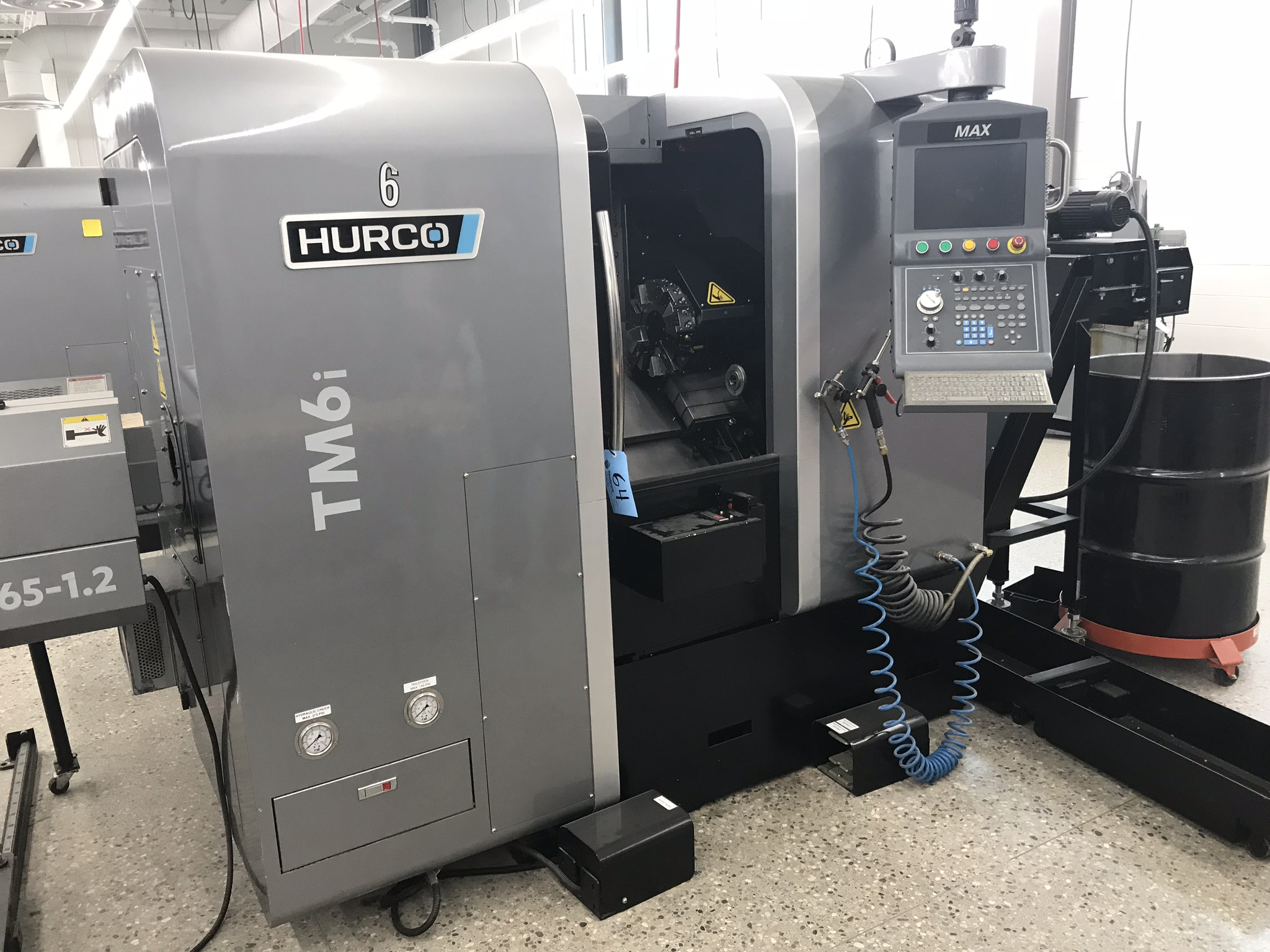 Hurco TM-6i CNC Lathe with HB65-1.2 Barfeed, Rigid Tap, Renishaw Presetter, Chip Conv, 400 Hours! - Image 2 of 16