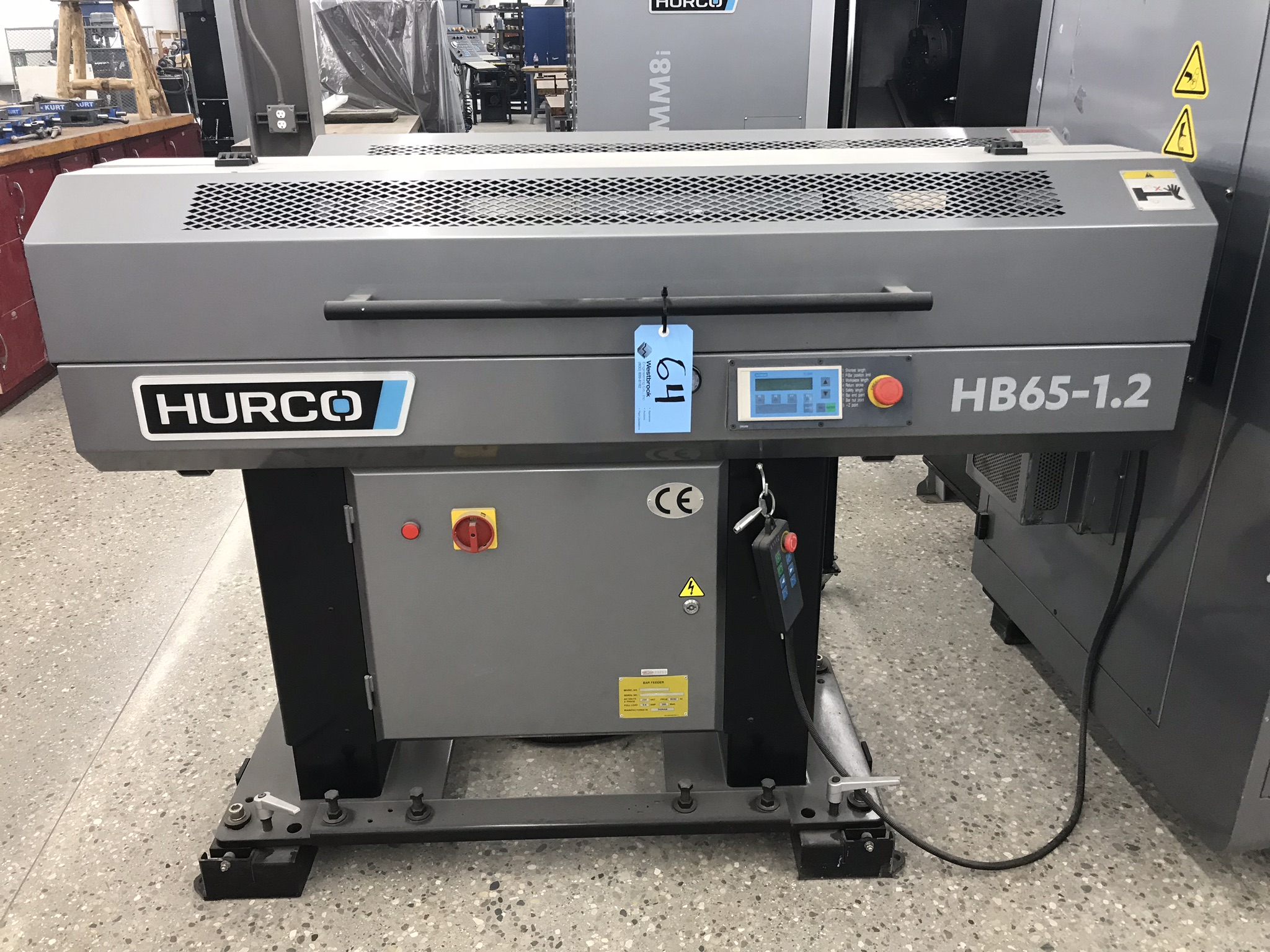 Hurco TM-6i CNC Lathe with HB65-1.2 Barfeed, Rigid Tap, Renishaw Presetter, Chip Conv, 400 Hours! - Image 11 of 16