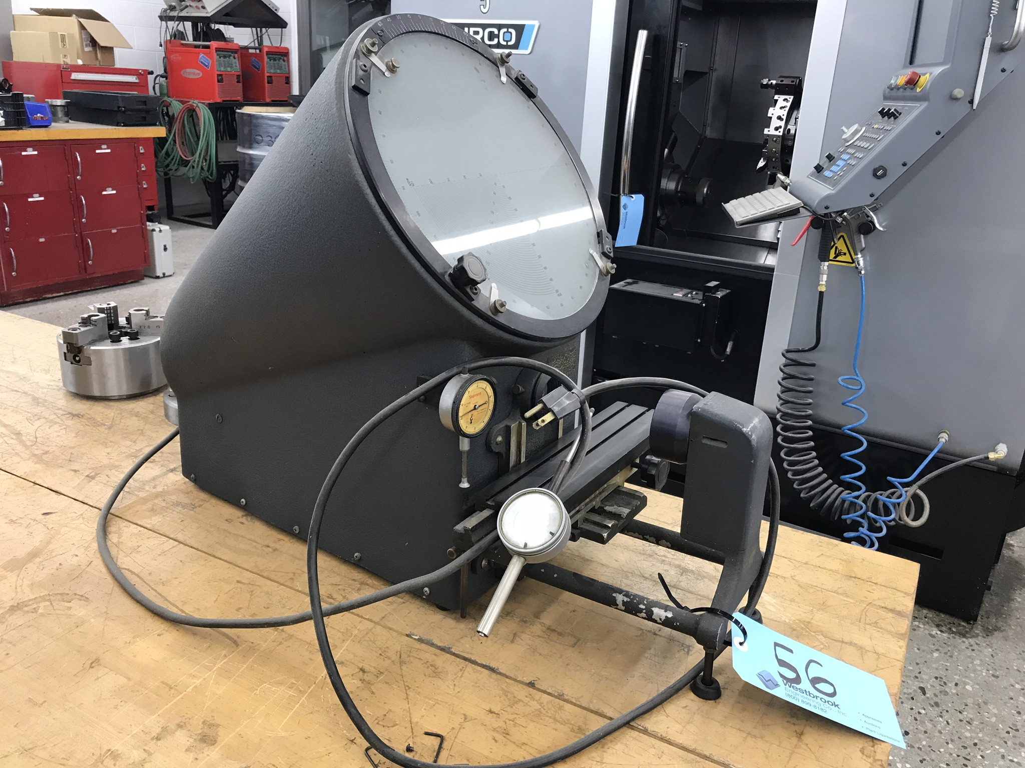 "12"" 40X Optical Comparator with Graduated Glass Lens. - Image 2 of 2"