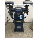 "Hammond Pedestal Grinder Model # 10A (10"" Wheels) w/ Dust Collector Base and Lighted View Guard"