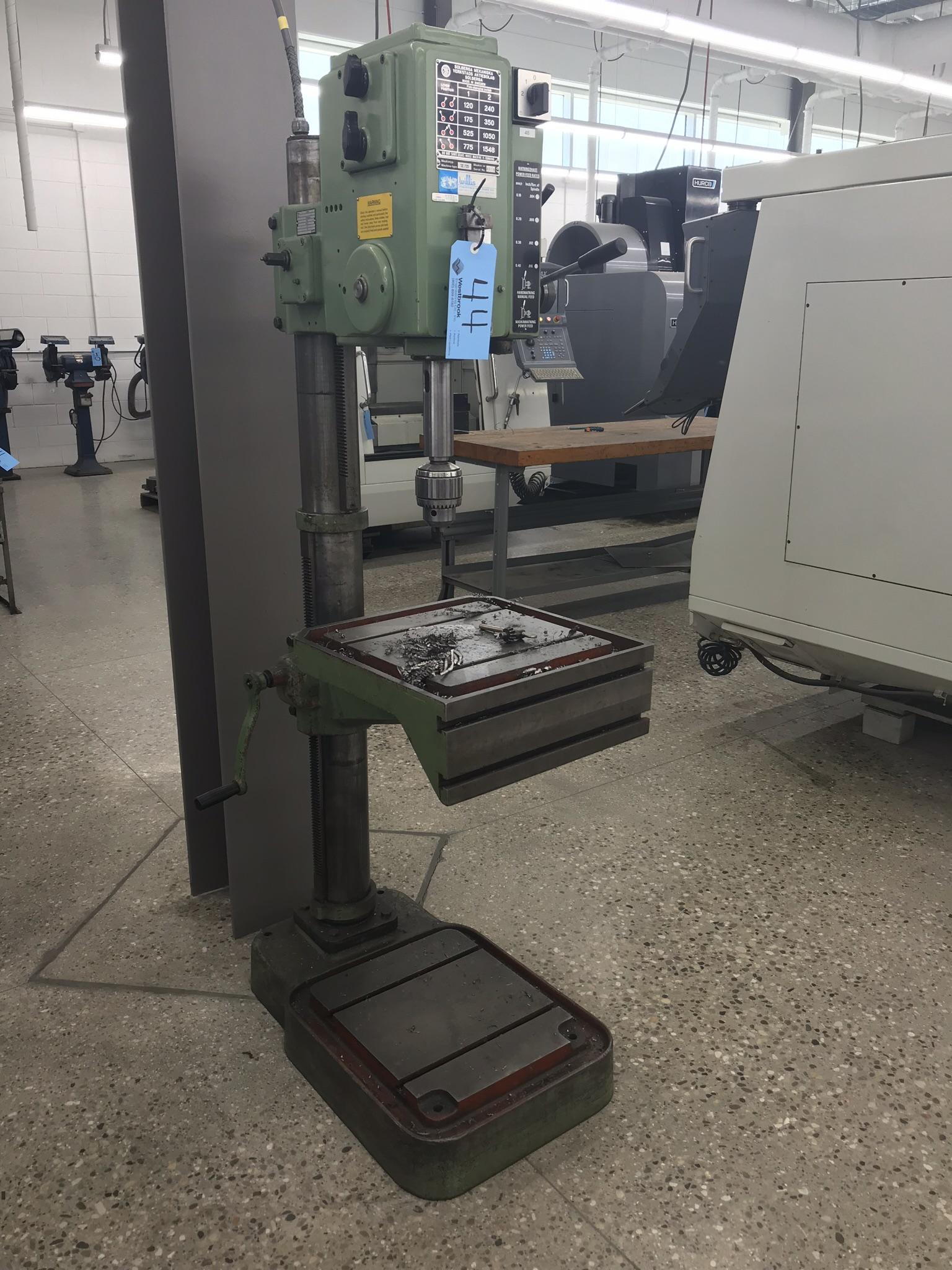 "Solberga 22""Geared Head Drill Press Model # SE 725, Serial # 8019."