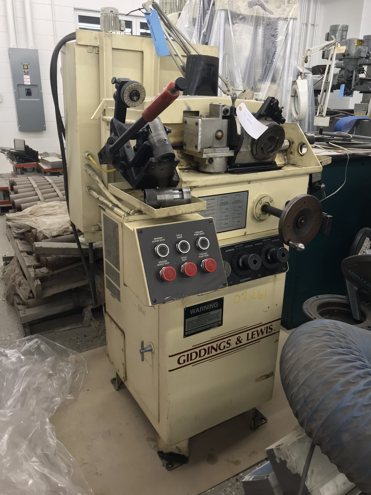 Giddings & Lewis Winslow Model HC Drill Point Grinder w/ Extra Wheels, Fixtures, & Spare Components