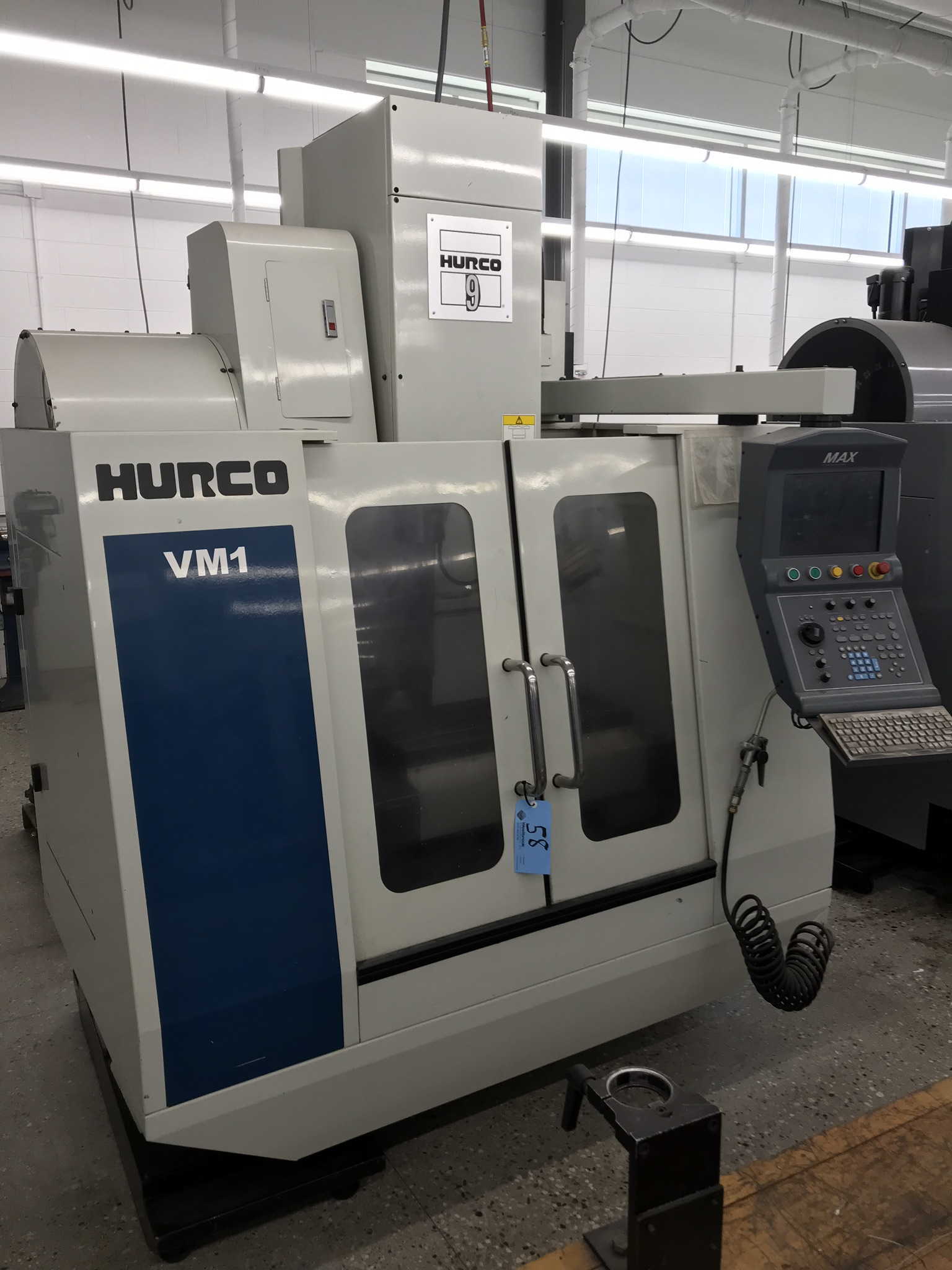 Hurco VM-1 CNC Vertical Machining Center, Spindle Recently Replaced, Approx 6,500 Hours, Max Control
