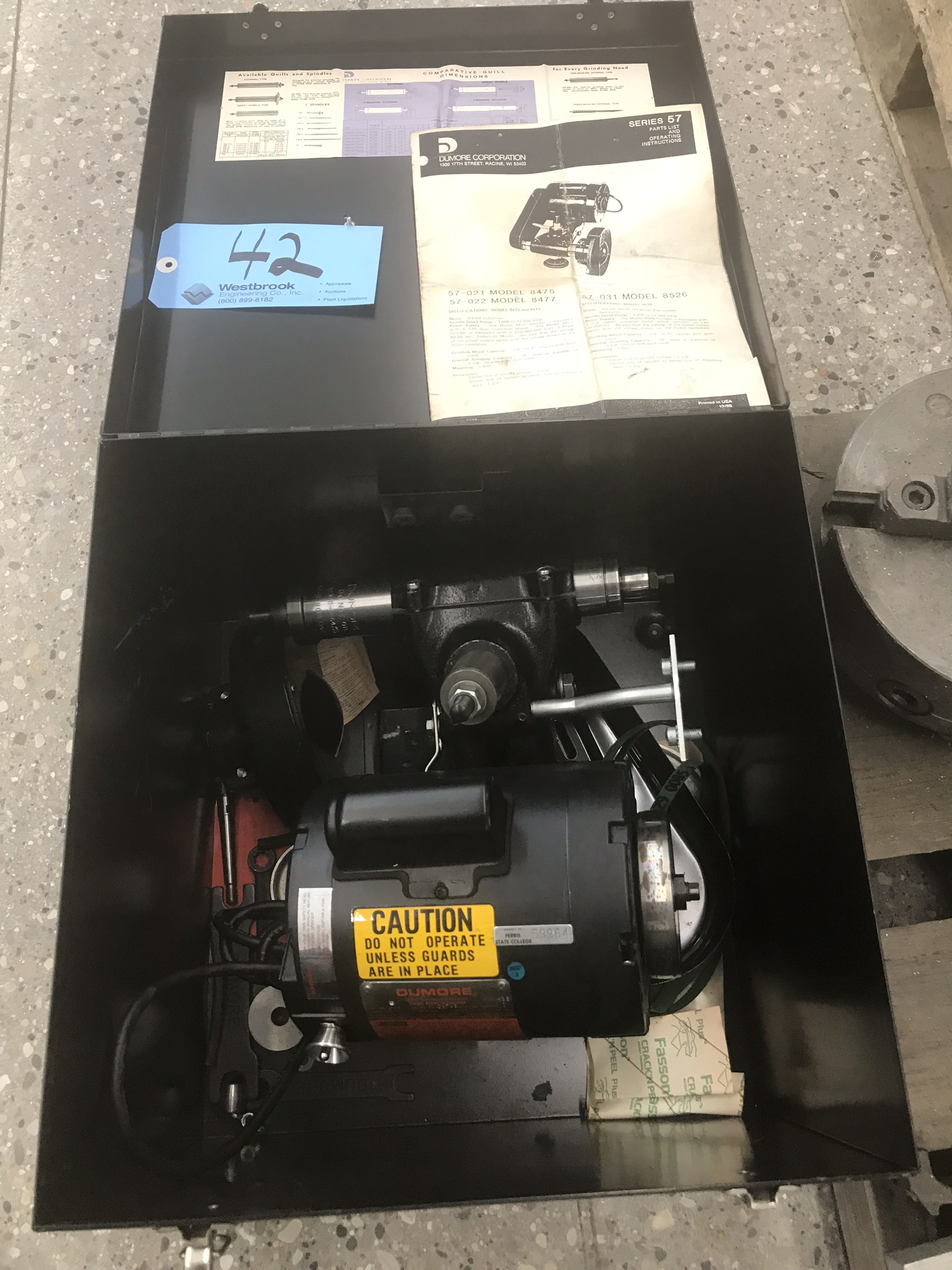 Dumore Tool Post Grinder Kit Model # 8475 w/ Case and accessories (Like New Condition)