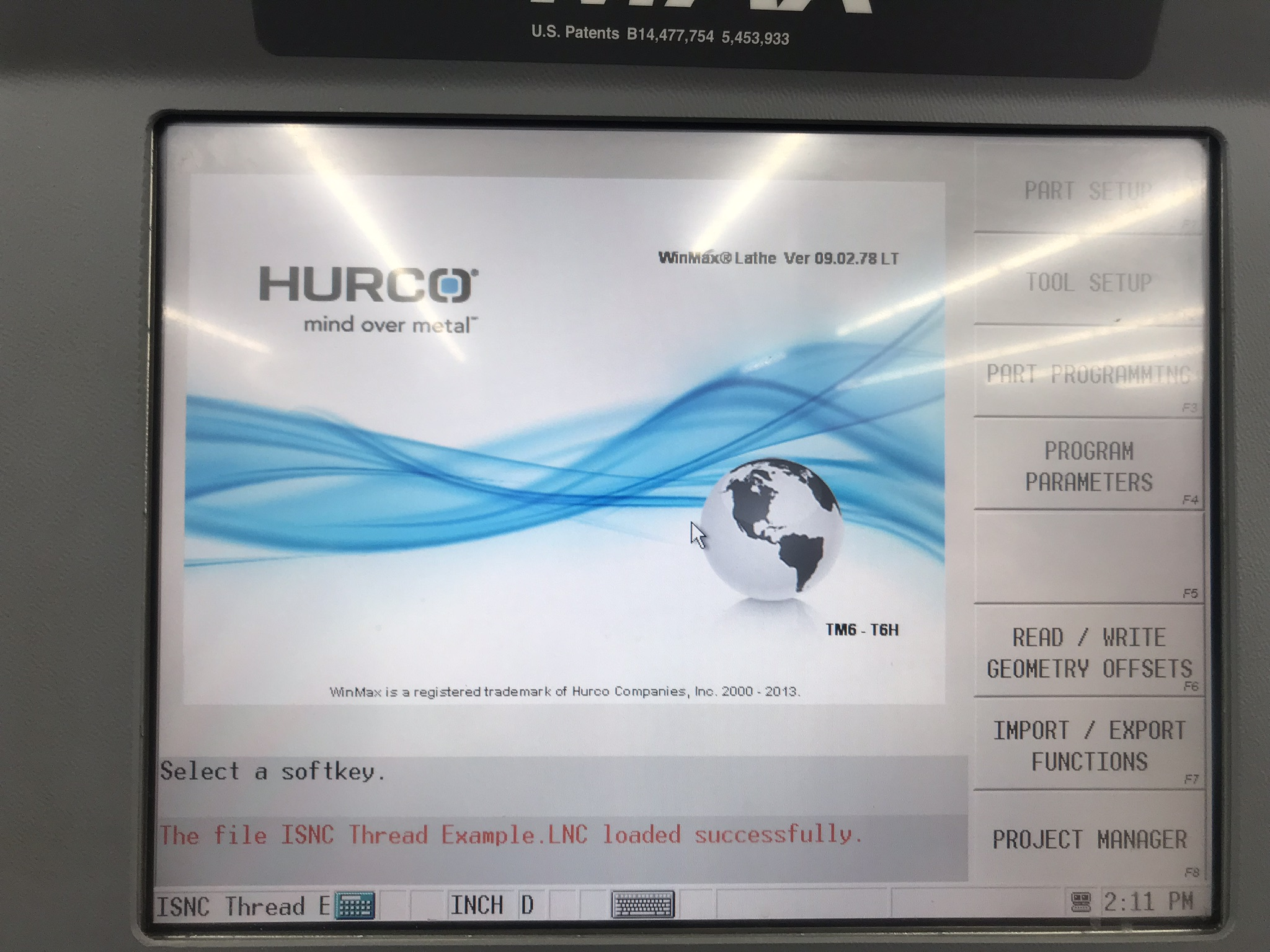 Hurco TM-6i CNC Lathe with HB65-1.2 Barfeed, Rigid Tap, Renishaw Presetter, Chip Conv, 400 Hours! - Image 16 of 16