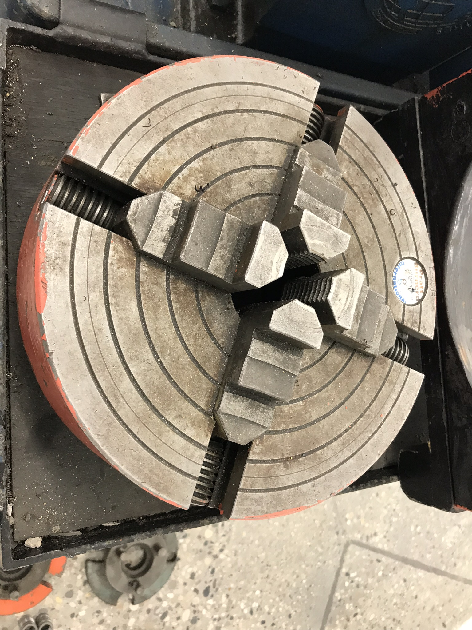"""Clausing Colchester 13"""" x 40"""" Toolroom Lathe 8"""" 3 jaw,10"""" 4 jaw, Collet set, Aloris Tool Post, DRO - Image 5 of 9"""