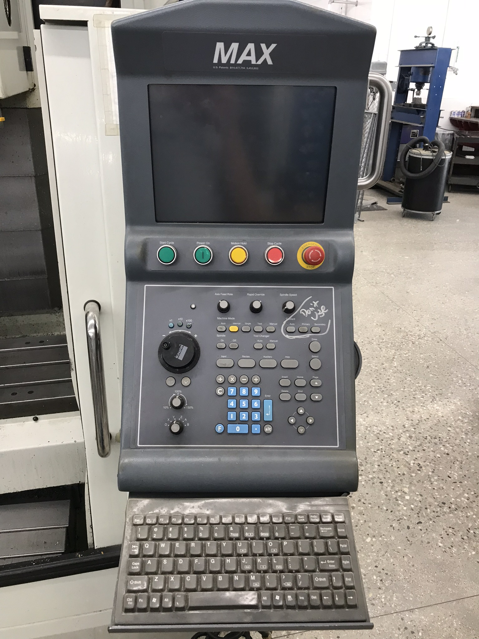 Hurco VM-1 CNC Vertical Machining Center, Spindle Recently Replaced, Approx 6,800 Hours, Max Control - Image 3 of 5