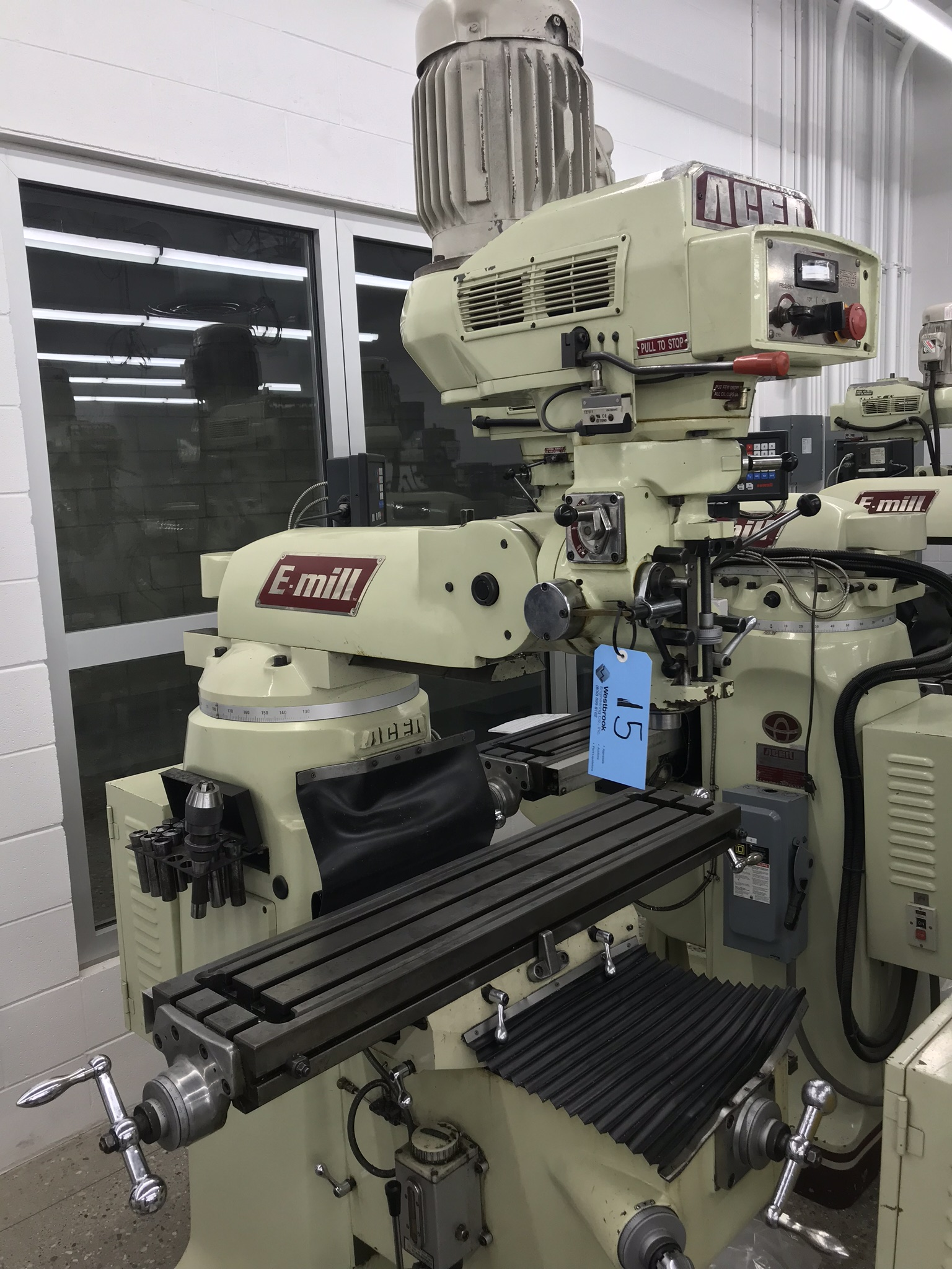 """Acer Vertical Milling Machine Model EVS-3VS, 9"""" x 42"""" Table, Newall DRO, Collets, 60-4500 RPM - Image 2 of 6"""