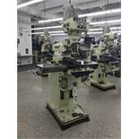 "Acer Vertical Milling Machine Model EVS-3VS, 9"" x 42"" Table, Newall DRO, Collets, 60-4500 RPM"