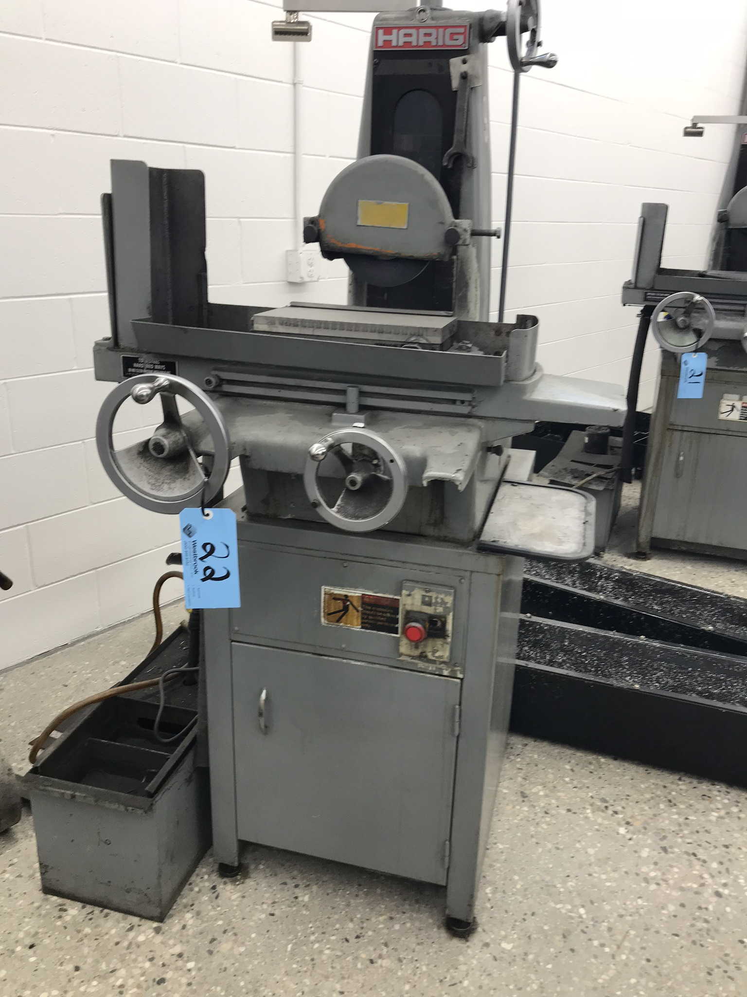 "Harig 612 6"" x 12"" Surface Grinder, 6"" x 12"" Permanent Magnetic Chuck, Coolant"