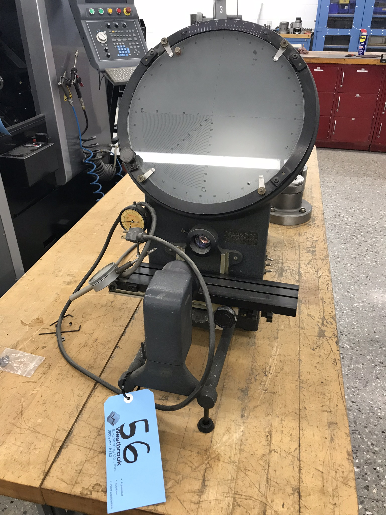 "12"" 40X Optical Comparator with Graduated Glass Lens."