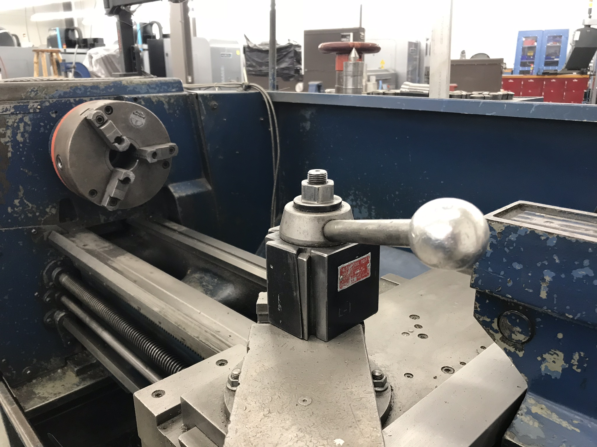 """Clausing Colchester 13"""" x 40"""" Toolroom Lathe 8"""" 3 jaw,10"""" 4 jaw, Collet set, Aloris Tool Post, DRO - Image 4 of 9"""