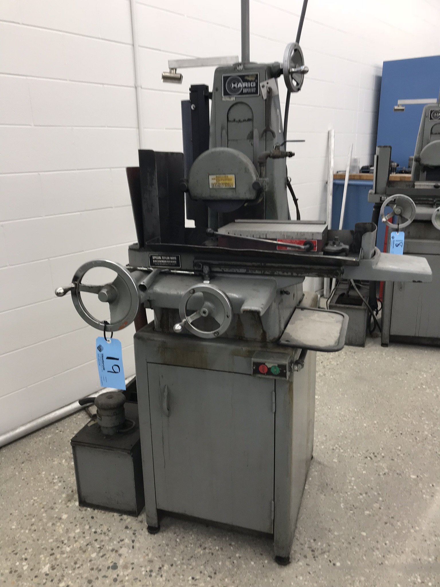 """Harig Super 612 6"""" x 12"""" Surface Grinder with Scales for X, Y DRO. 6"""" x 12"""" Permanent Magnetic Chuck"""