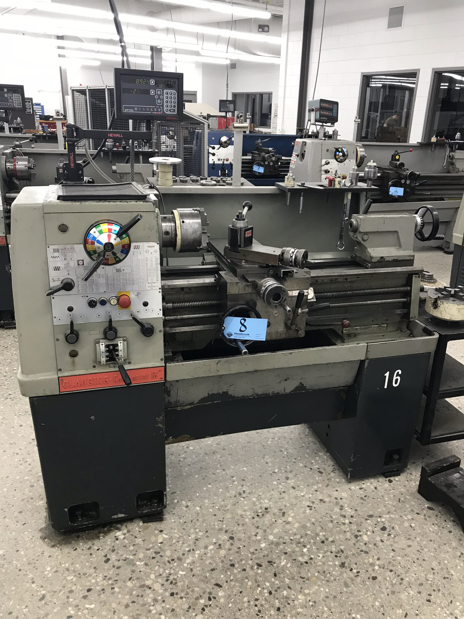 "Clausing Colchester 13"" x 25"" Toolroom Lathe 6"" 3 jaw, 8"" 4 jaw, 7"" 6 jaw, Collets, Aloris Tool Post"