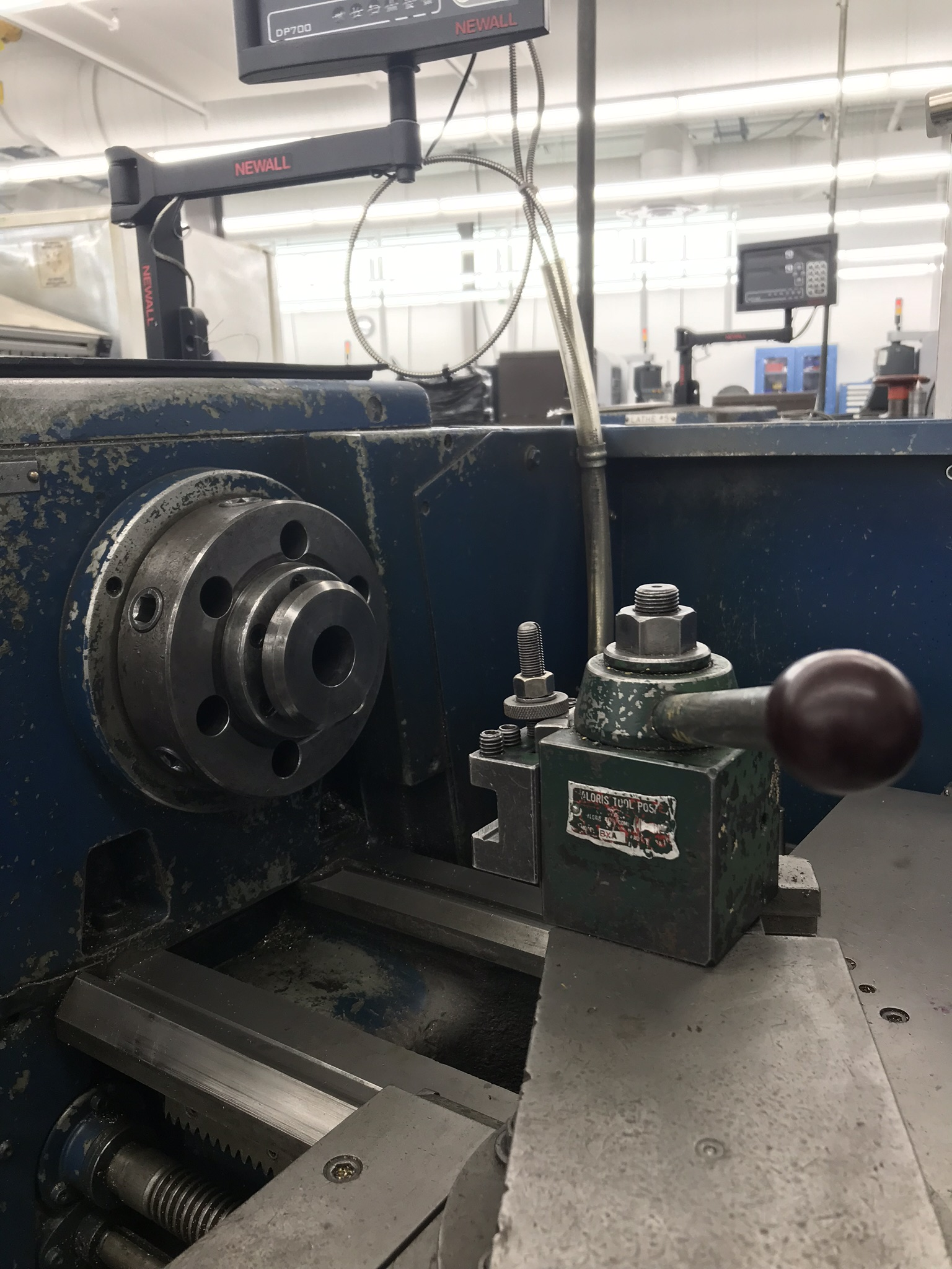 "Clausing Colchester 15"" x 50"" Toolroom Lathe  8"" 3 jaw, 10"" 4 jaw, Collet set, Aloris Tool Post, DRO - Image 3 of 7"