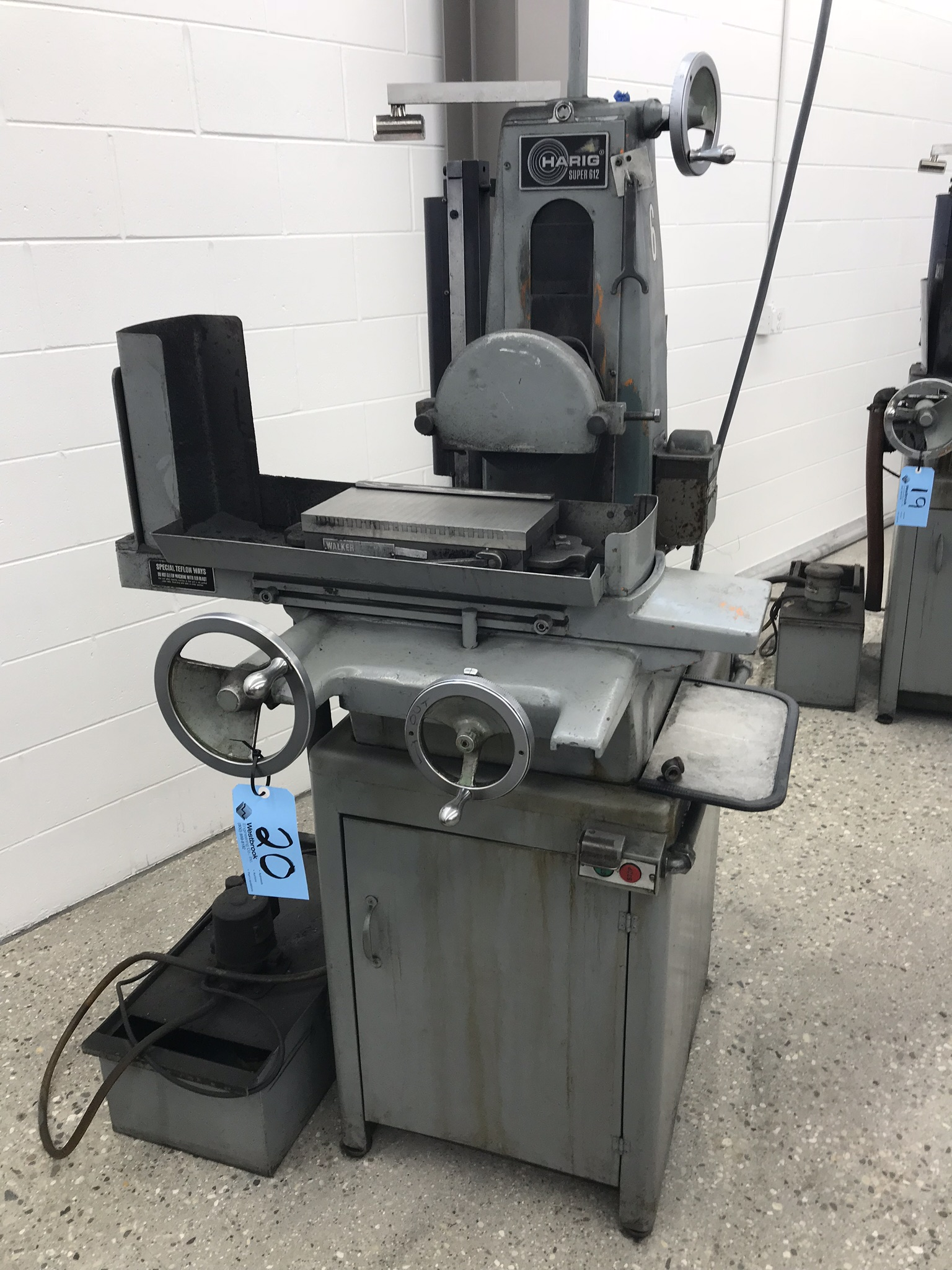 """Harig Super 612 6"""" x 12"""" Surface Grinder with Scales for X, Y DRO, 6"""" x 12"""" Permanent Chuck, Coolant"""