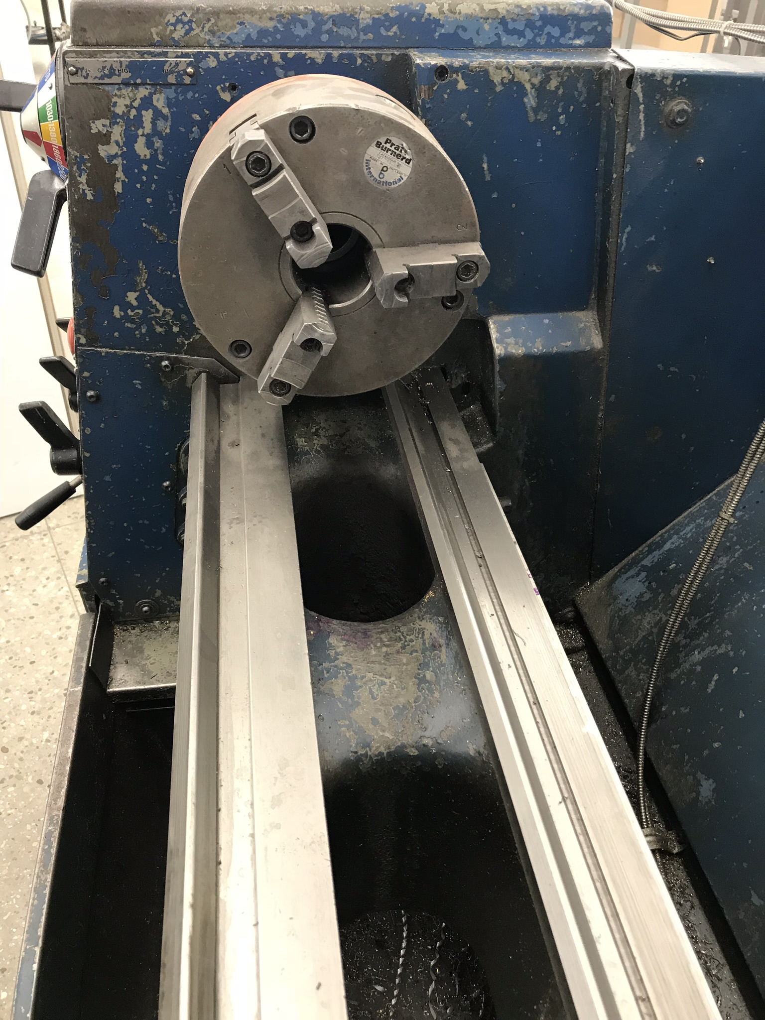 """Clausing Colchester 13"""" x 40"""" Toolroom Lathe 8"""" 3 jaw,10"""" 4 jaw, Collet set, Aloris Tool Post, DRO - Image 3 of 9"""