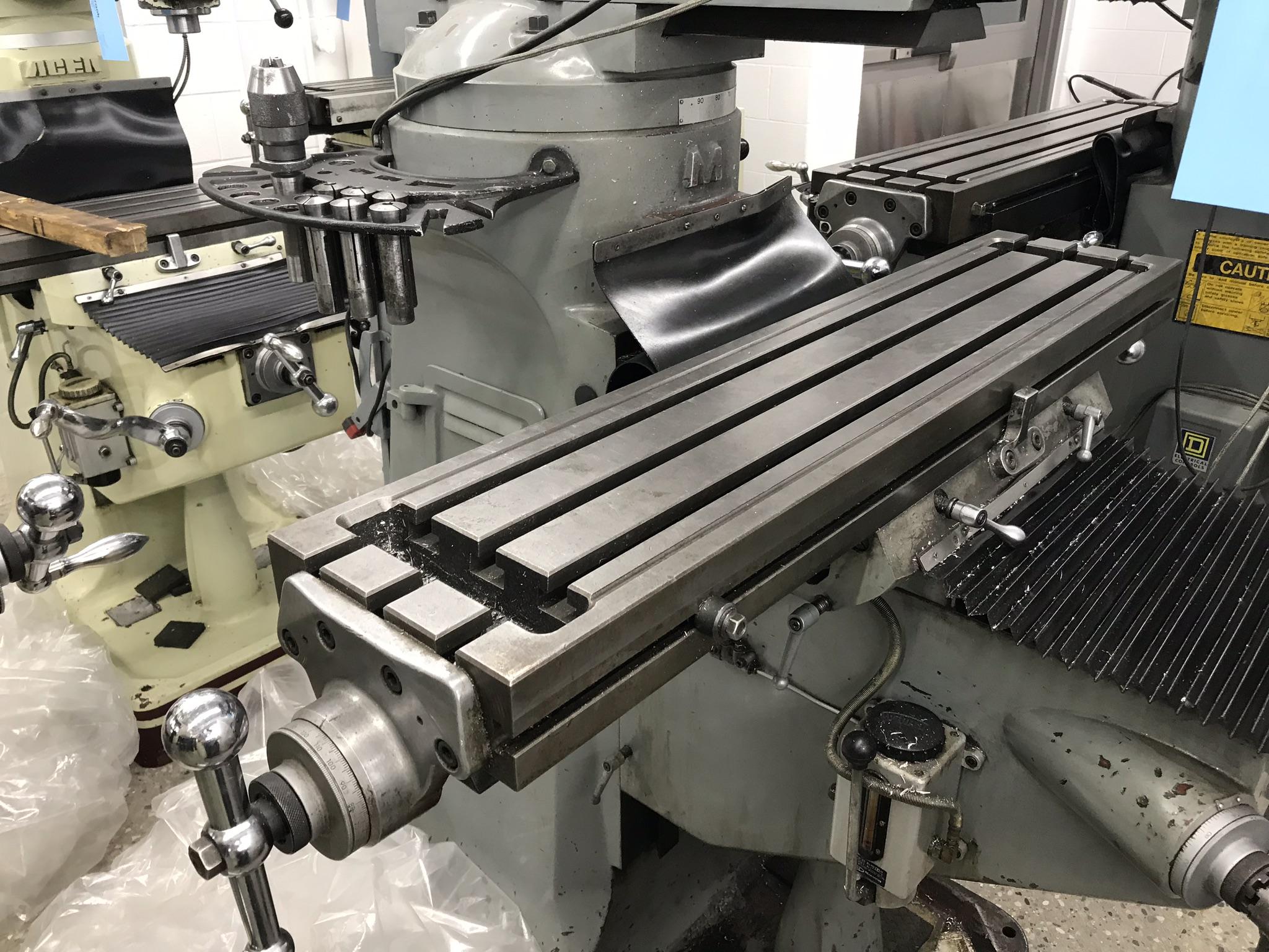 "Supermax Titan Series Vertical Mill Model YO-1.5VS-T, 9"" x 42"" Table Sargon 3- Axis DRO, Collets, - Image 2 of 4"