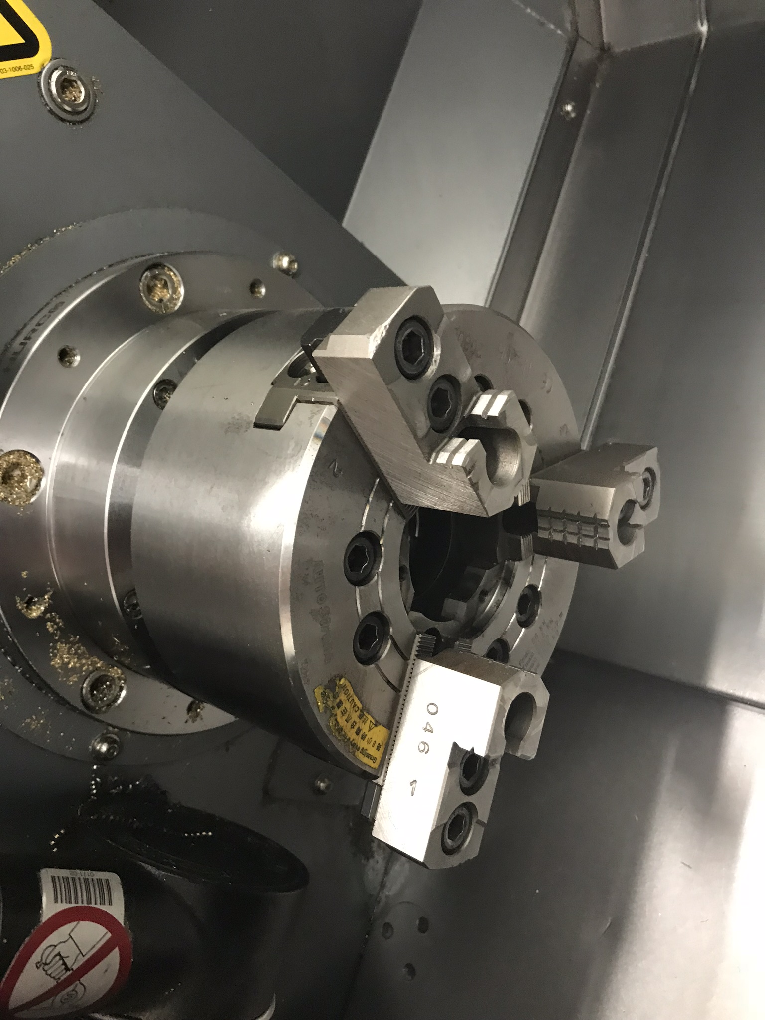 Hurco TM-6i CNC Lathe with HB65-1.2 Barfeed, Rigid Tap, Renishaw Presetter, Chip Conv, 400 Hours! - Image 6 of 16